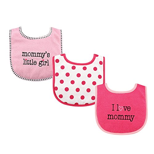 Luvable Friends Baby Drooler Bibs, Girl's I love Mommy
