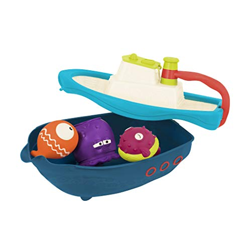 B. Toys - Off The Hook - Bath & Beach Toy Boat with Squirting Toys & Hidden Storage Compartment