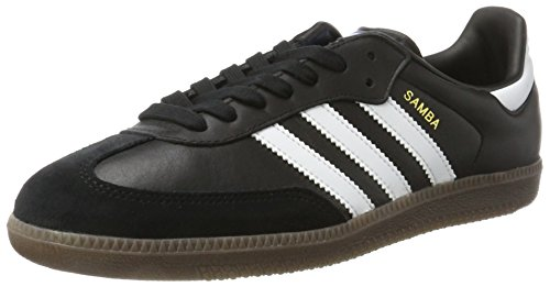 adidas Originals Herren Samba Sneakers Schwarz (Core Black/Ftwr White/Gum5)