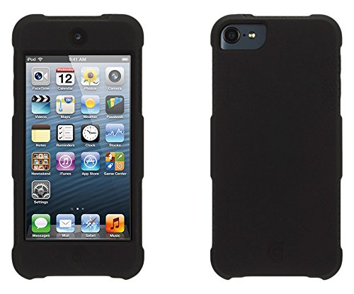 huge discount e20a1 ae80c Griffin Survivor Skin iPod Touch (5th/6th gen.) Case with Tough Silicone  and Shock-Absorbing Design, Black