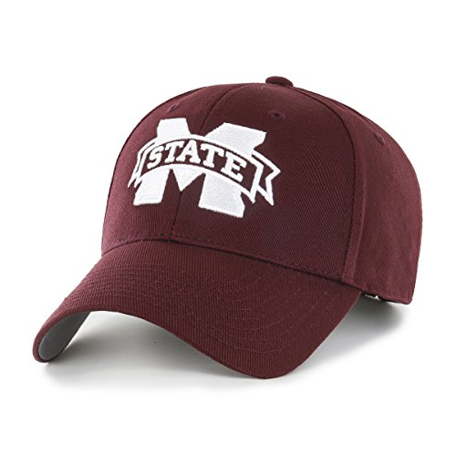 - NCAA Mississippi State Bulldogs OTS All-Star MVP Adjustable Hat, Dark Maroon, One Size