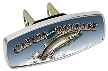 Heininger 4225 HitchMate Premier Series Hitch Cap Hooked on Walleye