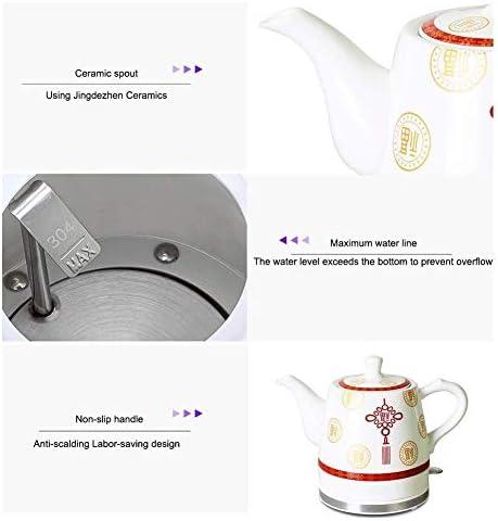 Taoke Bollitori elettrici Ceramica Cordless bollitore Teiera-Retro Red 1.2L And1.5L Brocca, Acqua Veloce for Fast (Dimensione: 1.5L) 8bayfa (Size : 1.5L)