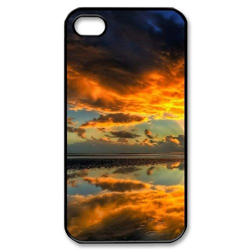 SYYCH Phone case Of Crimson Clouds 1 Cover Case For Iphone 4/4s