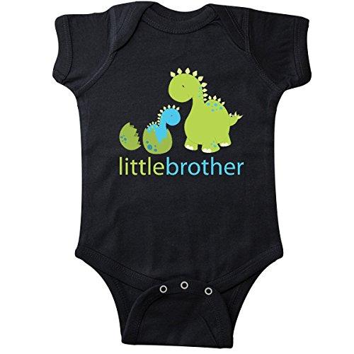 inktastic - Dinosaur Little Brother Green Infant Creeper Newborn Black - Little Brother Dinosaur
