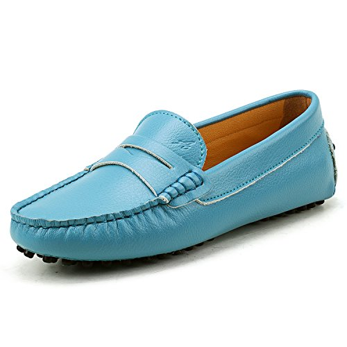 Shoes Women's Slip AUSLAND Flats Loafers on Skyblue Casual w8YavSxq