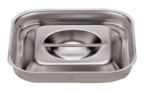 Paderno World Cuisine Stainless-steel 6-1/8-Inch Square Lid for Bain-Marie Bain Marie Insert