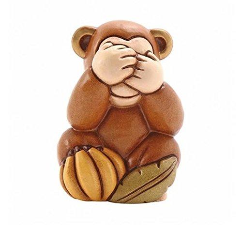 Thun® - Scimmietta Non Vedo Piccola - Animali da Soprammobile da Collezione - Ceramica - I Classici