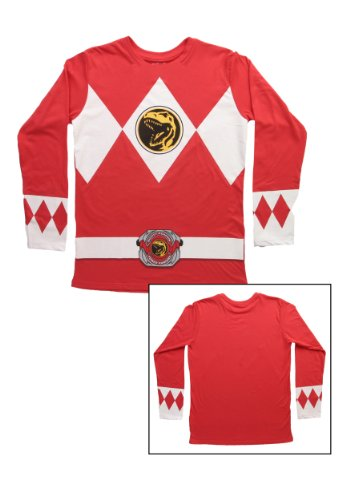Red Power Rangers Long Sleeve Shirt (Small) ()