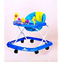 Baby Walker with Adjustable Height and Toy Walker Blue