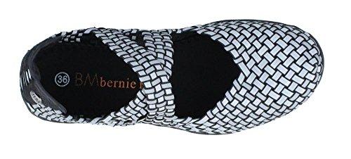 Bernie Mev Womens Champion Slip-on Casual Nero Argento