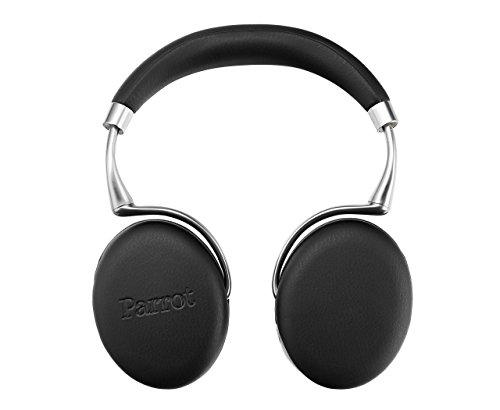 Parrot Zik 3 Wireless Bluetooth Headphones - Adaptive Noise Control, Proximity Sensor, Wireless Charging - Black Leather Grain (Renewed)