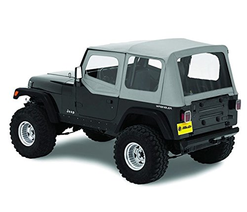 Bestop 51120-09 Charcoal Replace-A-Top Soft Top Clear Windows w/Upper Door Skins for 1988-1995 Jeep Wrangler