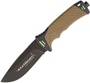 StatGear 99416 Surviv-All Outdoor Knife with Firestarter, Sharpener & Cord Cutter