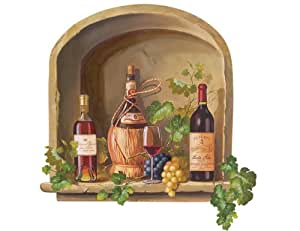 Wallies wine alcove wallpaper mural home for Amazon mural wallpaper