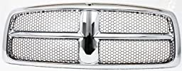 Evan-Fischer EVA17772021825 Grille Assembly Grill Plastic shell and insert Chrome with gray