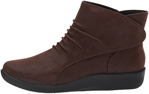 CLARKS Women's Sillian Sway Ankle Bootie, Brown, 8 M US by CLARKS (Image #5)