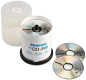 Exacon 700MB 52x CD-R (100-Pack Spindle)
