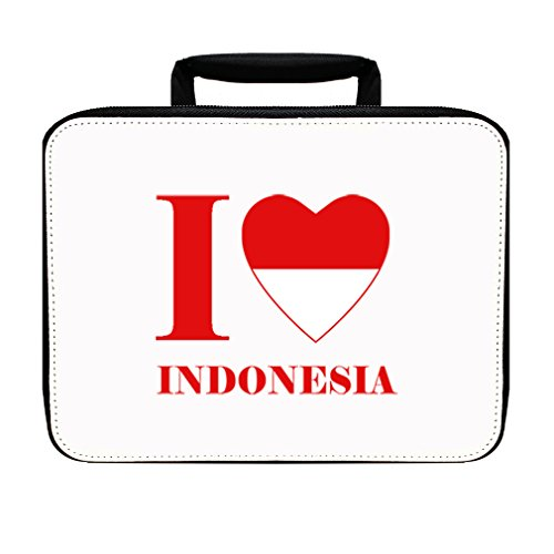 I Love Indonesia Insulated Lunch Box Bag by Style in Print
