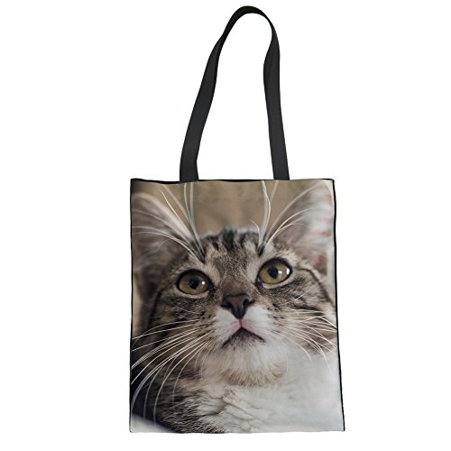 Lightweight Advocator Bag Print Tote Canvas Diaper Color for Casual Tote Handbags 10 Shopper Bags Cat College cRY8HUrqwY