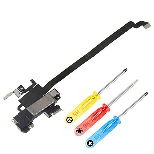 MMOBIEL Earspeaker Light Sensor Flex Cable Incl Mic Compatible with iPhone XR 6.1 inch incl. Screwdrivers ()