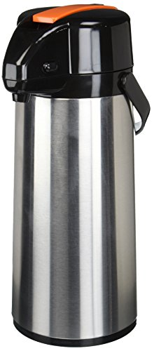 Winco Glass Lined Airpot, 2.2-Liter, Lever Top, Decaf
