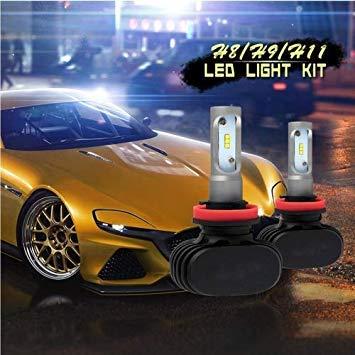 Uniqus 2 PCS H11 IP65 Waterproof White Light 6 CSP LED Car Headlight Bulb, 9-36V   18W, 6000K   2000LM
