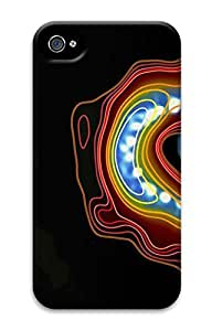 3D PC Back Case Cover for iPhone 4 DIY Custom Hard Shell Skin for iPhone 4 With Universe Molecule