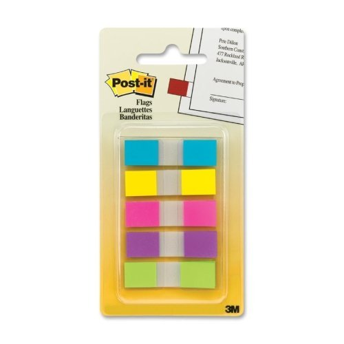 Post-It Flags In Portable Dispenser 0.47 In. X 1.7 In. Yello