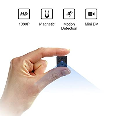Mini Spy Hidden Camera,NIYPS 1080P Portable Small HD Nanny Cam with Night Vision and Motion Detective,Perfect Indoor Covert Security Camera for Home and Office from NIYPS