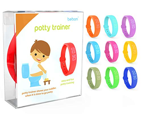 (Potty Trainer - New Upgraded Version - Toilet Trainer for Kids Makes Potty Training Easier - Timer with Extra Wrist Band, Smaller Wrist Band Size, Water Resistant + More Colors (red + Blue) )