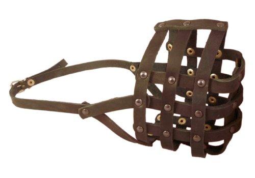 4 Inch Cane (Genuime Leather Dog Basket Dog Muzzle #111 (Circumference 14.3