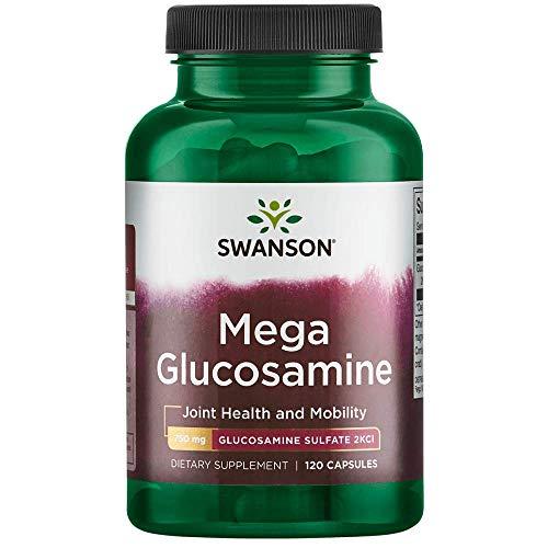 Swanson Mega Glucosamine Glucosamine Sulfate 2Kcl 750 Milligrams 120 Capsules