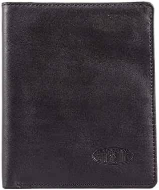 Big Skinny Leather Traveler Slim Wallet, Holds Up to 20 Cards and 4 Passports