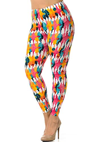 (World of Leggings Buttery Soft Lollipop Splash Plus Size Leggings)