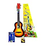 ChordBuddy Junior Guitar Learning Kit. Includes ChordBuddy Device, Child-size Guitar, Tuner, and Picks - Vintage Sunburst Guitar