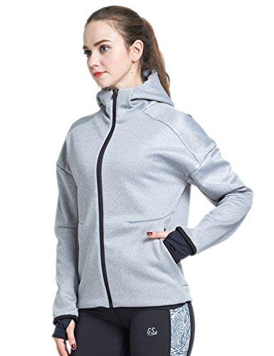 Goodsport Women's Full-Zip Performance Jacket, Steel Grey, Medium - Grey Steel Rain Jacket