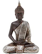 "Deco 79 44129 Thai Buddha Meditating Peace Harmony Statue, 8"" H/6"" W"