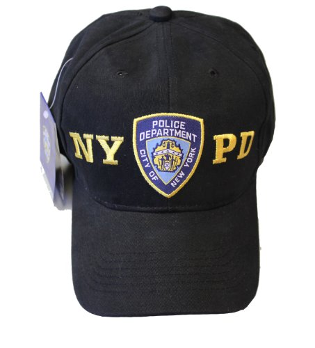 NYC FACTORY NYPD Baseball Hat New York Police Department Black & Gold One Size