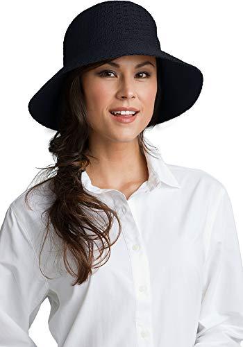 f6ae2e10254 Coolibar UPF 50+ Women s Marina Sun Hat - Sun Protective (One Size- Black