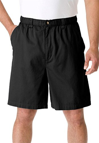 KingSize Men's Big & Tall Knockarounds 834 Full Elastic Plain Front Shorts, by KingSize