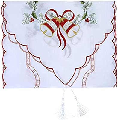 Embroidered Floral Lace Dust Proof Covers for Christmas Table Home Wedding Decor