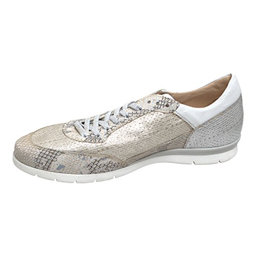 Sneaker Ladies Force - Di Mjus - Color Lino Iceberg Bianco Vera Pelle