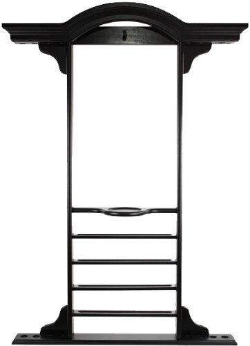 オゾンデラックスプールCue Wall Rack – ブラック B002GZ550M
