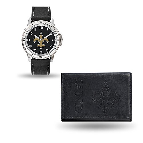 Rico NFL Men's Watch and Wallet Set WTWAWA1301, New Orleans Saints -