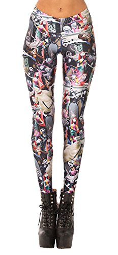 Best Zombie Outfits (QZUnique Women's Happy Zombies Digital Print Ankle Length Elastic Leggings)