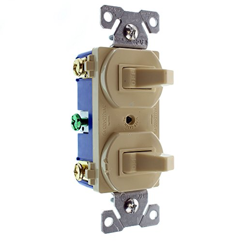 Cooper wiring devices 271V-BOX 15-Amps 120/277-Volt Traditional Heavy Duty Grade Two Single-Pole Switches, Ivory