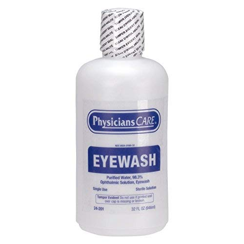 PhysiciansCare by First Aid Only 24-201 Eye Wash Solution, 32 Ounce Bottle (Pack of 1)