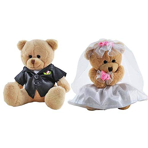 - Elka Australia Bride and Groom Wedding pair Teddy Bears Stuffed Animal Plush Toys 6