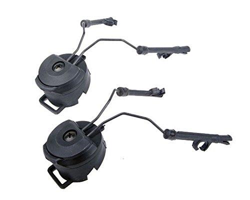 DLP Tactical Helmet ARC Rail Adaptor Set for Peltor ComTac Headsets (Black)